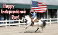 Horse Happy Independence Day eCard