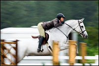Photographing horse shows in the rain
