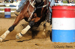 Barrel racer close up