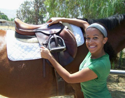 Veronica's new saddle
