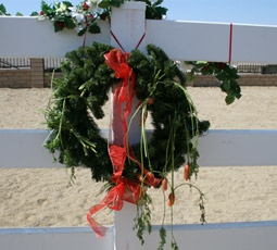 The carrot wreath can get messy but they're still fun for your horse