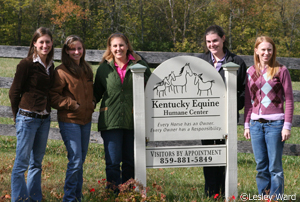 Horse Illustrated staff at KY Equine Humane Center