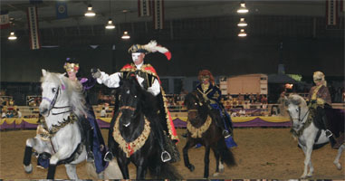 The Fiesta of the Spanish Horse is a four-day event that takes place annually