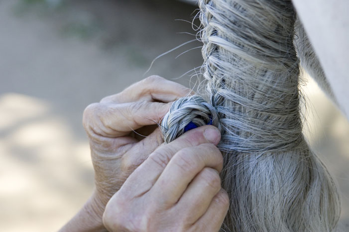Tail Braiding Step 13
