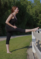 Equestrian Pilates: Hamstring Calf Stretch position B