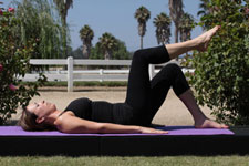 Equestrian Pilates: Piriformis Stretch position A