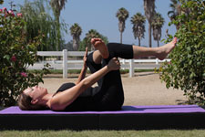 Equestrian Pilates: Piriformis Stretch position B