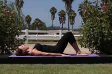 Equestrian Pilates: Spinal Bridging position A