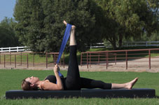 Equestrian Pilates: IT Band and Inner Thigh Stretch position A