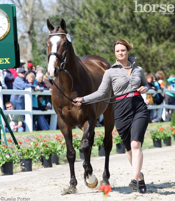 Leah Lang-Gluscic and AP Prime at the 2015 Rolex Kentucky Three-Day Event