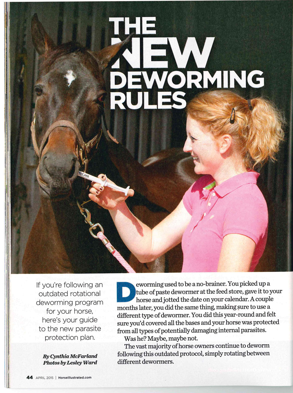 Deworming History