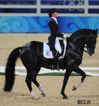 U.S. dressage rider Courtney King-Dye was found guilty of doping her horse, Mythilus