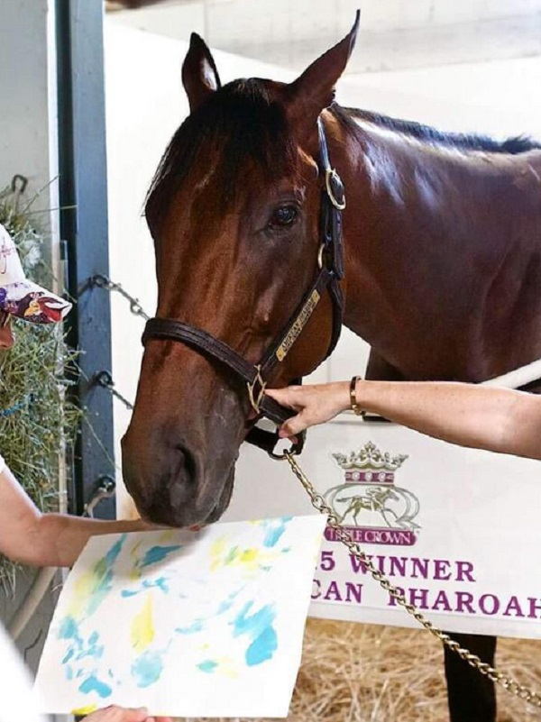 American Pharaoh Creates 'Moneigh' for Charity