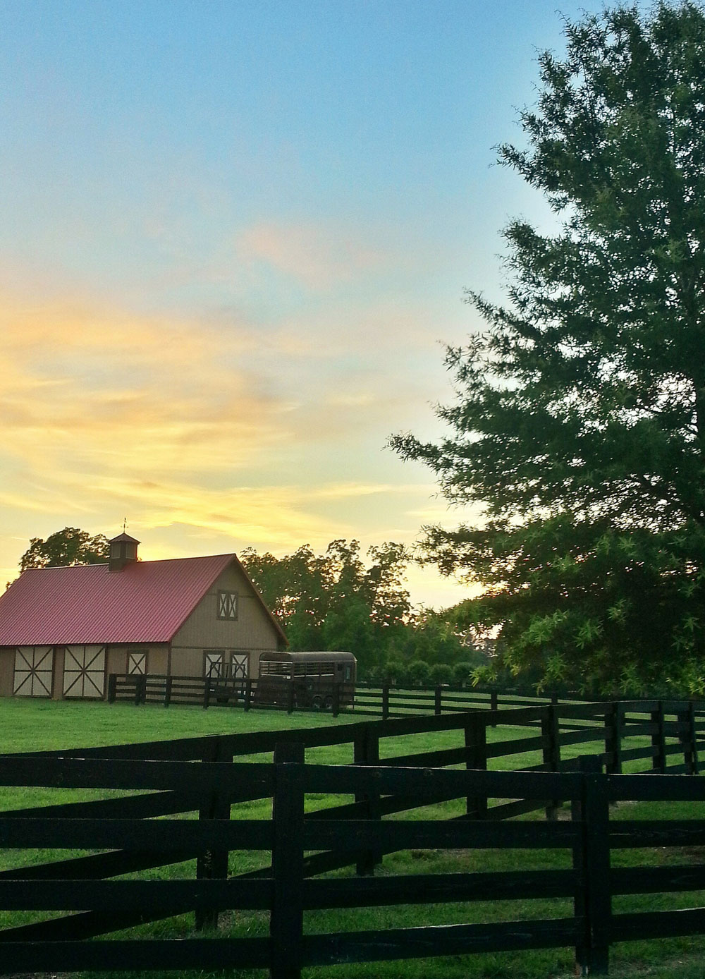 Barn and Sunset