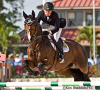 Beezie Madden riding Authentic at the Palm Beach International Equestrian Center