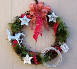 Make Your Own Cowgirl Christmas Wreath