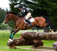 Eventer on the cross-country course