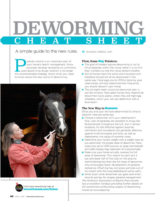Deworming Cheat Sheet
