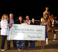 The Dressage Under the Stars competition raised over $17,000 for Courtney King-Dye