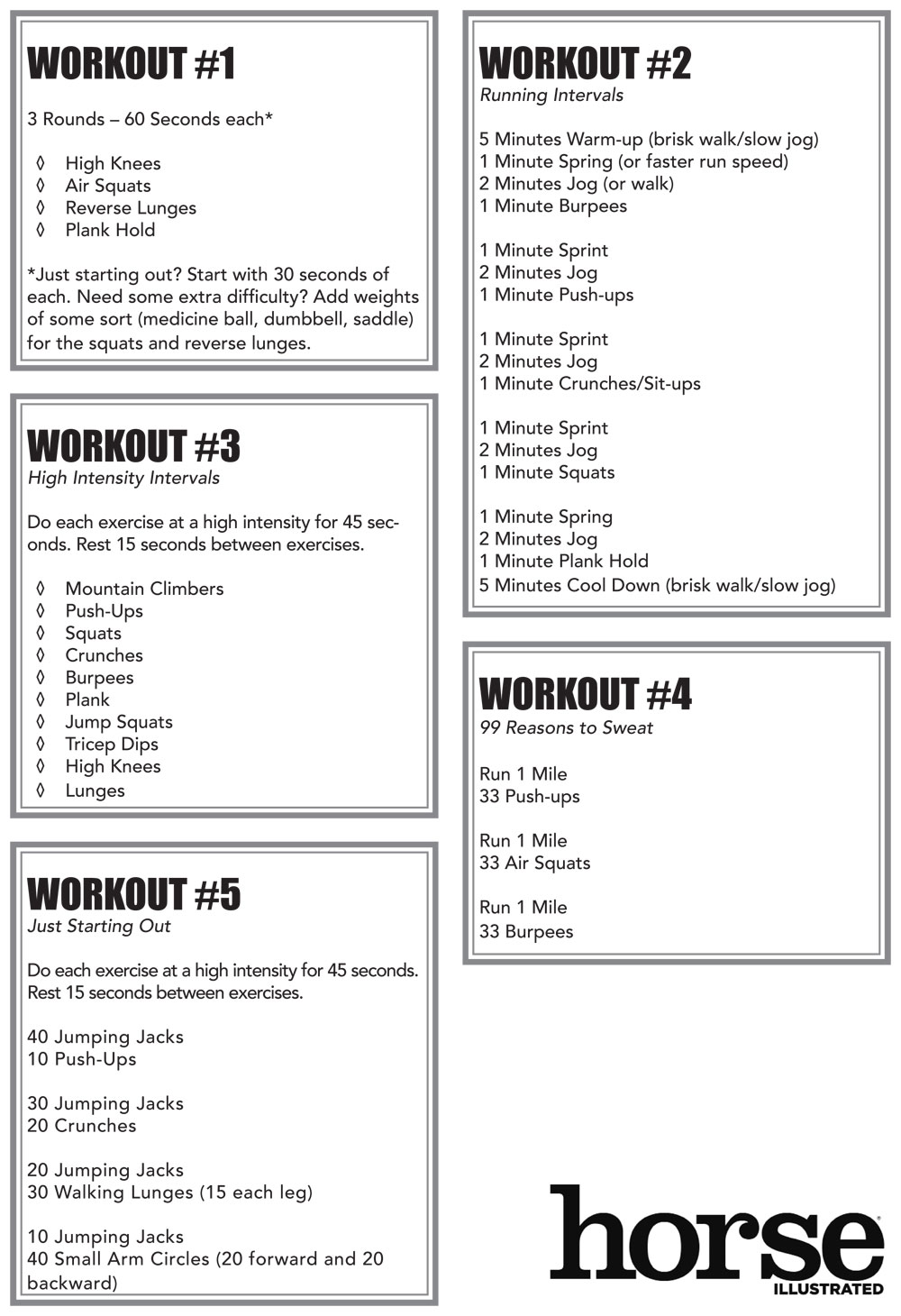 Equestrian Workouts