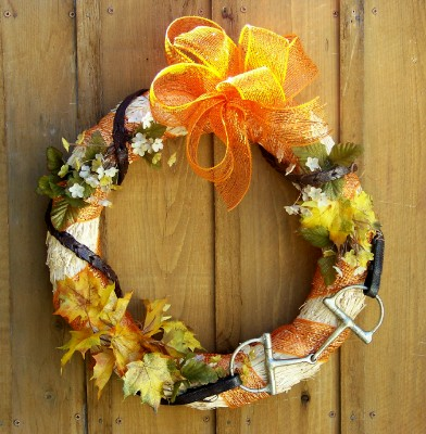 Add Equestrian Flair to an Autumn Wreath
