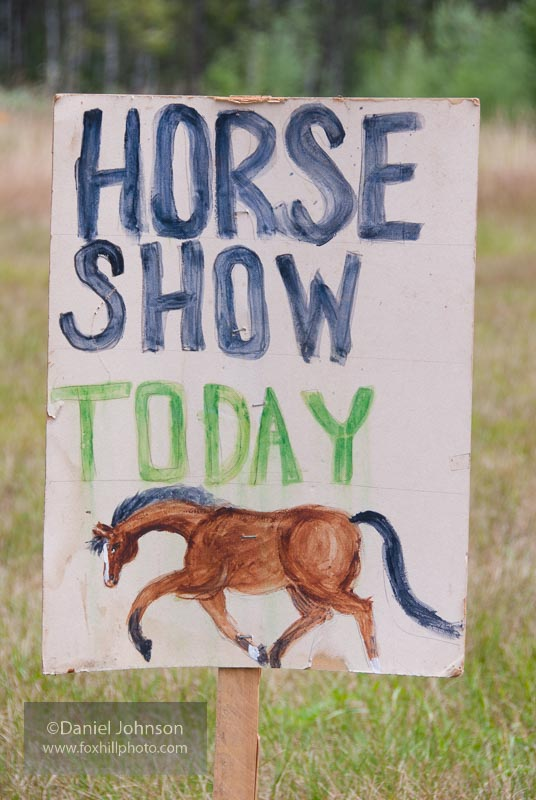 Horse Show Sign