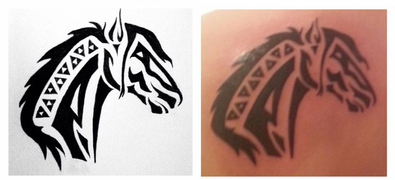 Horse Head Tattoo Design