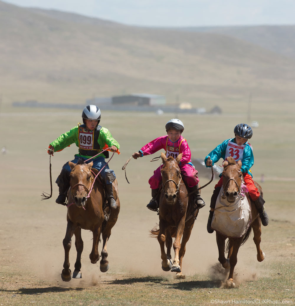 Young horse riders in Mongolia