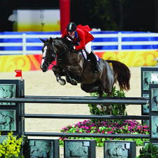 McLain Ward and Sapphire at the 2008 Olympics