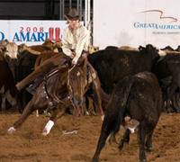 Stephanie Haymes-Roven and A Smart Little Rey - NCHA Non-Pro World Champions