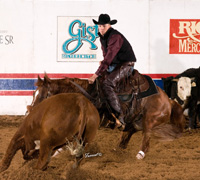 Zachary Combs and Purdy Aristo Cat - NCHA Novice World Champions