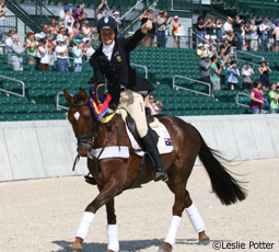 Lucinda Fredericks and Headley Britannia win the 2009 Rolex Kentucky Three-Day Event
