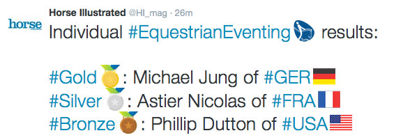 2016 Rio Olympics Eventing Individual Results