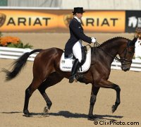 The German team dominated day one of dressage