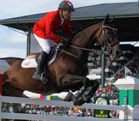 Eric Lamaze of the Canadian team