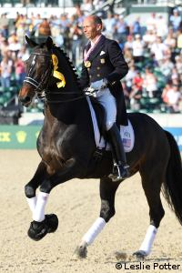 Steffen Peters won the first medal in a dressage world championship for the U.S.