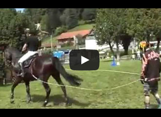 A Crazy Blend Of Rollerblading And Show Jumping