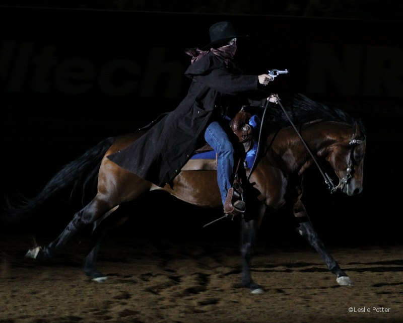 Stacy Westfall. Freestyle Reining at the 2010 Alltech FEI World Equestrian Games