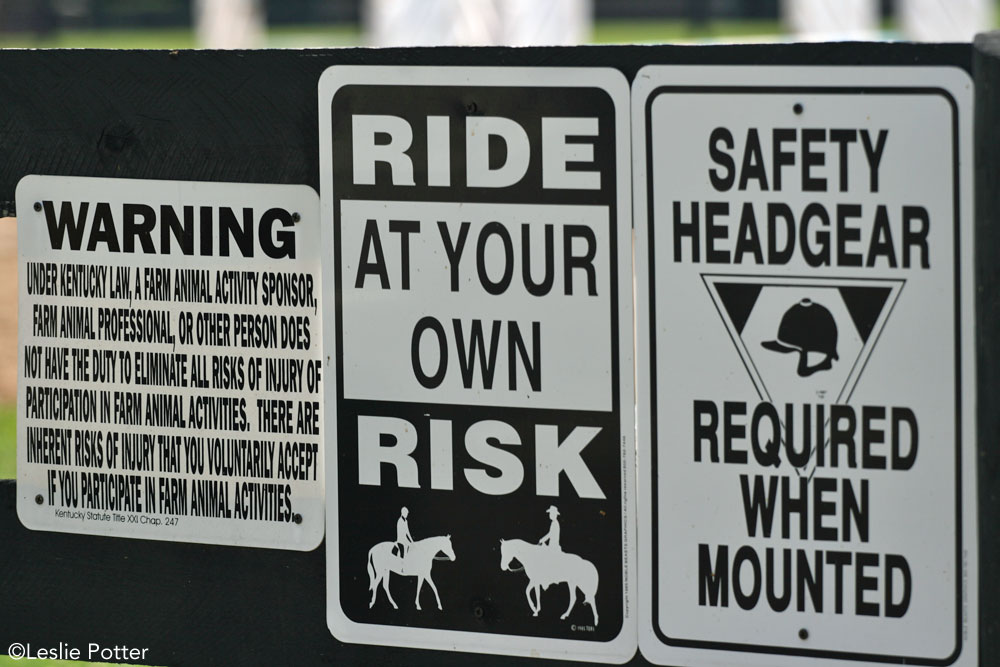 Equine Liability Signs