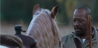 Morgan with horse in The Walking Dead