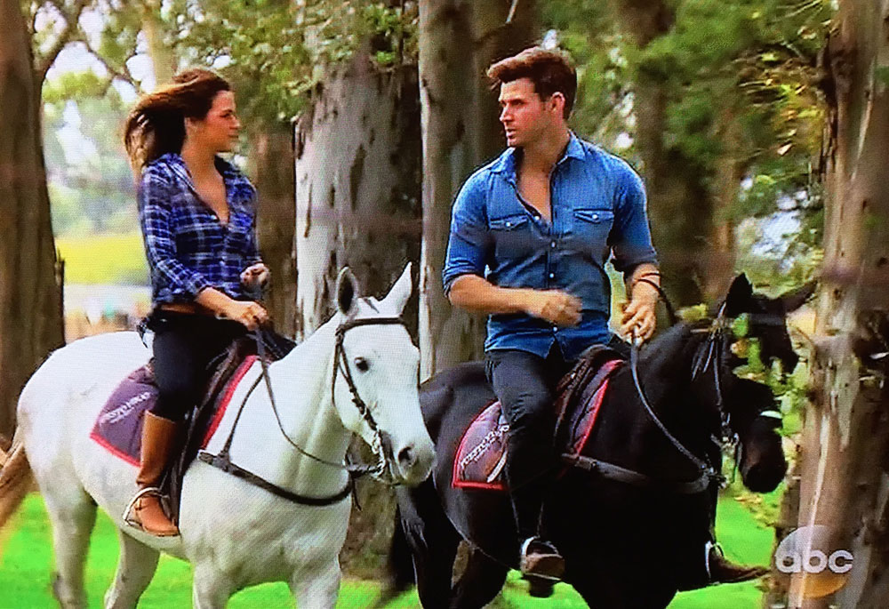 The Bachelorette horse riding scenes