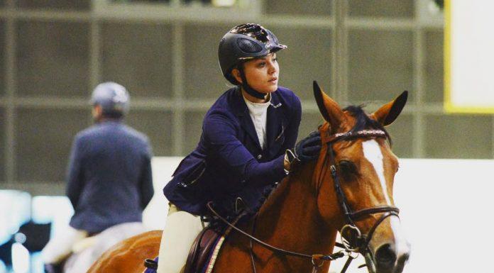 Kaley Cuoco riding her horse
