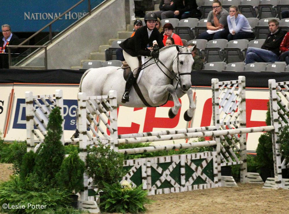 Hunter Holloway, 2016 Maclay Finals champion, riding C'est La Vie
