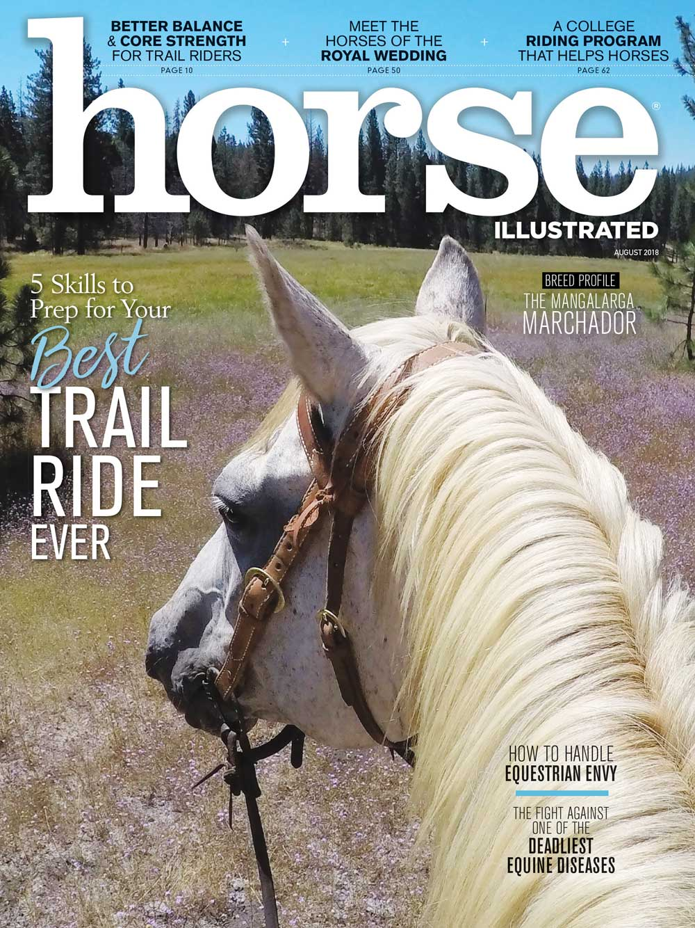 August 2018 Horse Illustrated magazine cover