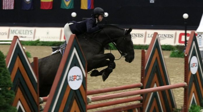 Madison Goetzmann riding San Remo VDL in the 2017 Maclay Finals