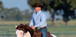 Clinician Clinton Anderson riding Titan