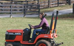 Driving a compact tractor