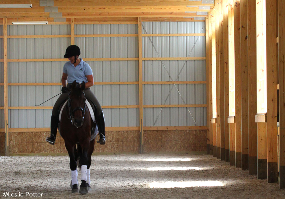 Indoor riding arena; hot weather riding
