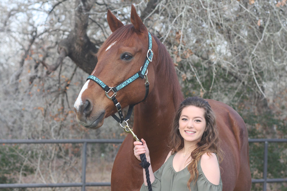 Cassidy McCombs and her Thoroughbred, Romey