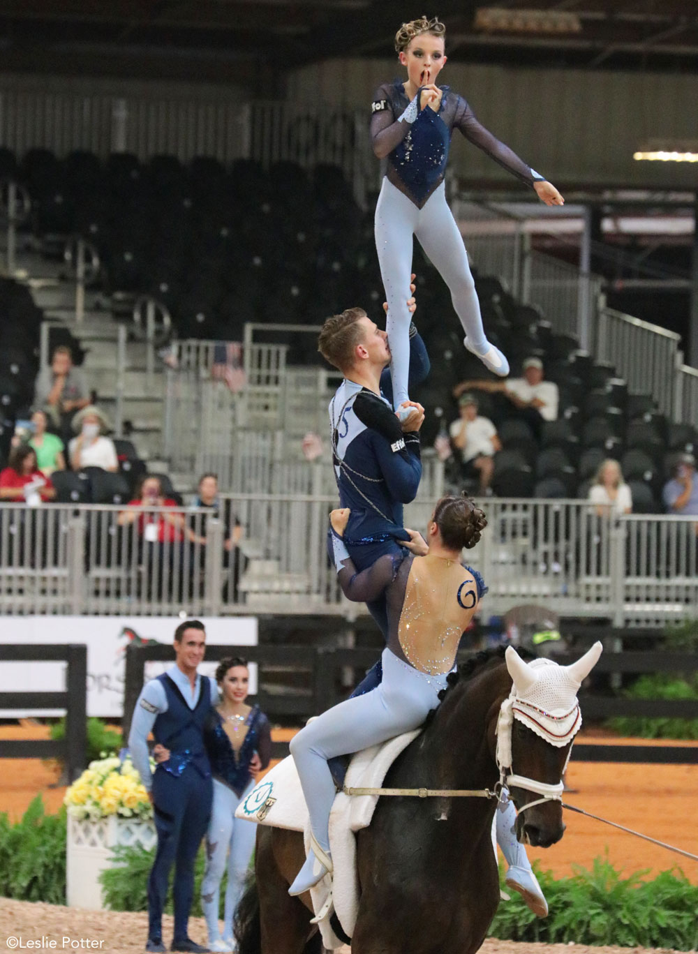 Germany's vaulting team won the gold medal in the Nations Team Vaulting Championship.